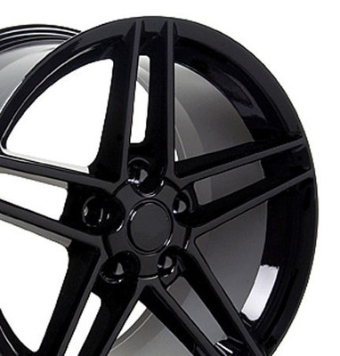 "18"" Fits Chevrolet - Corvette C6 Z06 Wheel - Black 18x10.5"