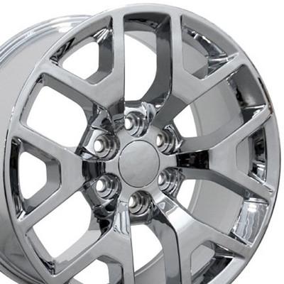 "22"" Fits Chevrolet - Sierra 1500 Wheel - Chrome 22x9"
