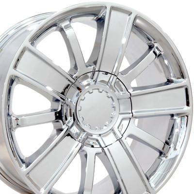"20"" Fits Chevrolet - Silverado Wheel - Chrome 20x9"