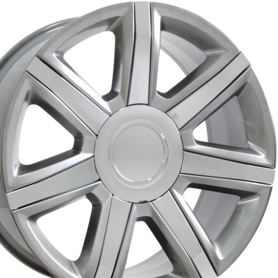 "22"" Fits Cadillac - Escalade Wheel - Hyper Black with Chrome Insert 22x9"