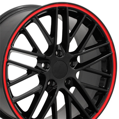 "18"" Fits Chevrolet - Corvette C6 ZR1 Wheel - Black 18x8.5"
