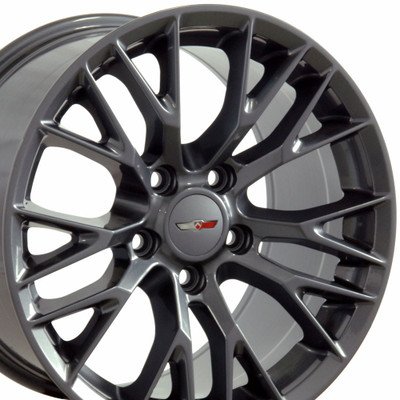 "17"" Fits Chevrolet - C7 Z06 Wheel - Gunmetal 17x9.5"