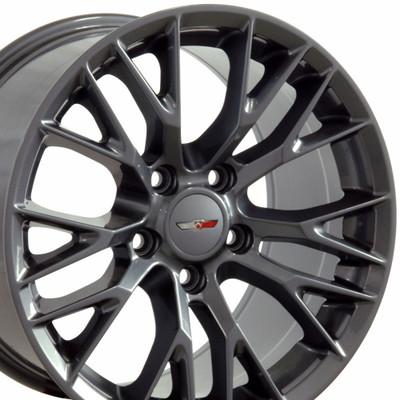 "18"" Fits Chevrolet - C7 Z06 Wheel - Gunmetal 18x10.5"