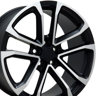 "20"" Fits Chevrolet - Camaro ZL1 Wheel - Matte Black with a Machined Face 20x8.5"