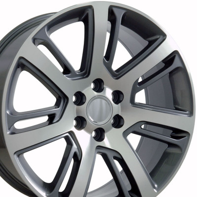 "22"" Fits Cadillac - Escalade Wheel - Gunmetal Machined Face 22x9"