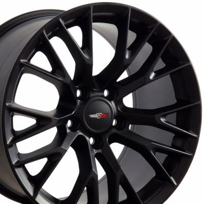 "18"" Fits Chevrolet - C7 Z06 Wheel - Matte Black 18x10.5"