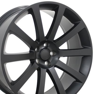 """22"""" Fits Chrysler - 300 SRT Wheel - Matte Black 22x9"""