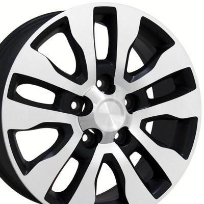 "20"" Fits Toyota - Tundra Wheel - Matte Black Mach'd Face 20x8"