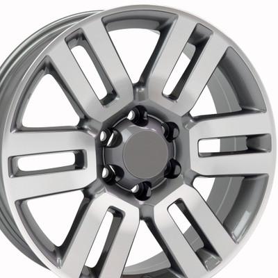 "20"" Fits Toyota - 4Runner Wheel - Gunmetal Machined Face 20x7"