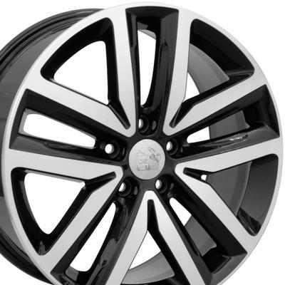 "18"" Fits VW Volkswagen - Jetta Wheel - Black Mach'd Face 18x7.5"