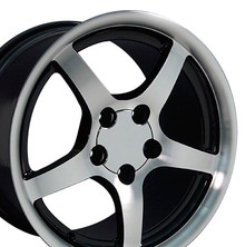 "17"" Fits Camaro Corvette C5 Deep Dish Wheel -Black vents 17x9.5"