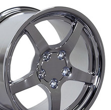 "17"" Fits Chevrolet - Corvette C5 Wheel - Chrome 17x9.5"