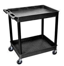 Black Tub Cart 2 Shelf