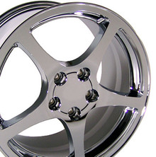 "17"" Fits Chevrolet - Corvette C5 Wheel - Chrome 17x8.5"