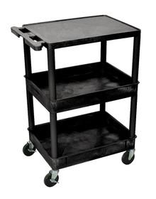 3 Shelf Tub Cart With Top Shelf Flat/Remaining Shelves Tub Item STC211-B