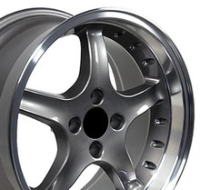 """17"""" Fits Ford - Mustang 4-Lug Cobra R Wheel - Anthracite 17x9"""