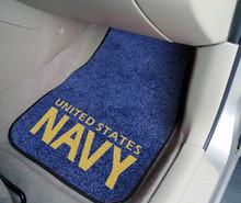 FANMATS NAVY Carpeted Car Floor Mats 2-Piece