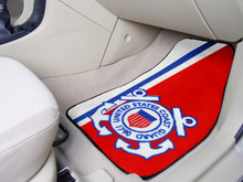 FANMATS US Coast Guard Carpeted Car Floor Mats 2-Piece