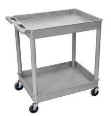 Tub Cart Gray 2 Shelves