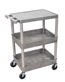 Detailing Tub Cart Gray 3 Shelves