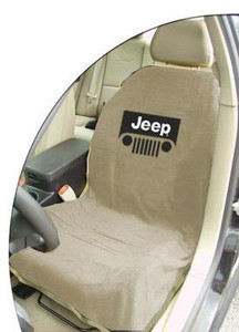 Jeep Tan Grille Car Seat Cover Towel