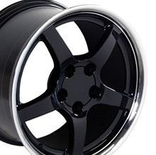 "18"" Fits Camaro Corvette C5 Deep Dish Wheel Black 18x9.5"