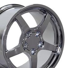 "18"" Fits Camaro Corvette C5 Deep Dish Wheel Chrome 18x9.5"
