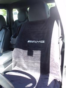 Mercedes AMG Black/Gray/Tan Car Seat Cover Towel