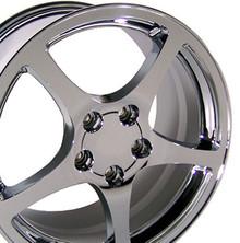 """18"""" Fits Chevrolet - Corvette C5 Wheel - Chrome 18x9.5"""