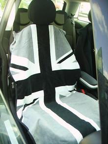 Mini Cooper Union Jack Gray Car Seat Cover Towel