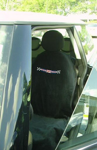 Mini Cooper Union Jack Checkered Flag Car Seat Cover Towel