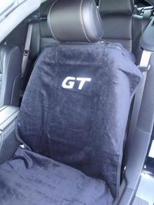 Mustang GT Black/Gray/Tan Car Seat Cover Towel