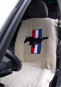 Mustang Tan Car Seat Cover Towel