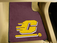 Central Michigan University Chippewas 2-PC Carpet Floor Mats