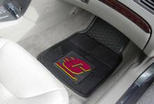 Central Michigan Univ Chippewas 2pc Heavy Duty Vinyl Car Floor Mat