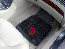 Indiana University Hoosiers 2-pc Heavy Duty Vinyl Car Floor Mat