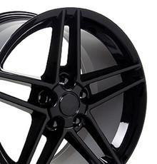 "18"" Fits Chevrolet - Corvette C6 Z06 Wheel - Black 18x9.5"