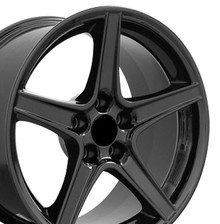 """18"""" Fits Ford - Mustang Saleen Wheel - Black 18x9"""