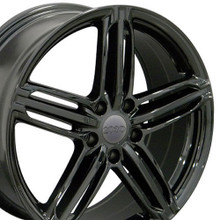 "18"" Fits Audi - RS6 Wheel - Black 18x8"