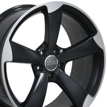"19"" Fits Audi - S4 Wheel - Matte Black with a Machined Face 19x8.5"