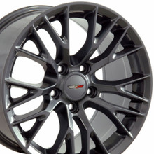 "17"" Fits Chevrolet - C7 Z06 Wheel - Gunmetal 17x9.5"