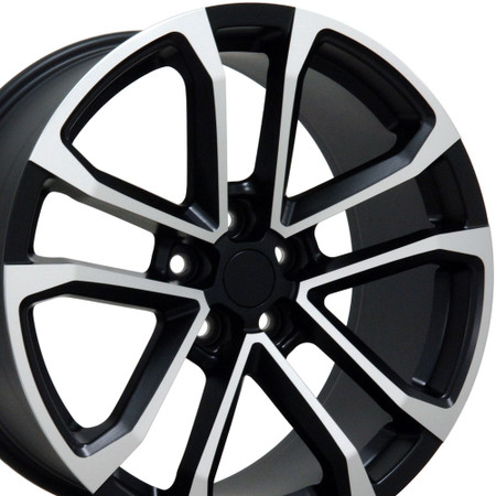 """20"""" Fits Chevrolet - Camaro ZL1 Wheel - Matte Black with a Machined Face 20x8.5"""