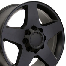 "20"" Fits Chevrolet - Silverado Wheel - Matte Black 20x8.5"