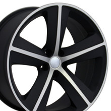"20"" Fits Dodge - Challenger SRT Wheel - Machined Matte Black 20x9"