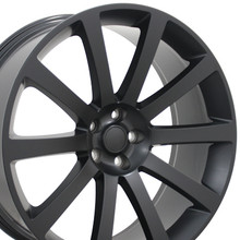 "22"" Fits Chrysler - 300 SRT Wheel - Matte Black 22x9"