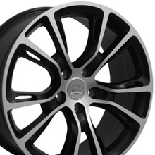 "20"" Fits Jeep - Grand Cherokee SRT8 Wheel - Matte Black Mach'd Face 20x8.5"