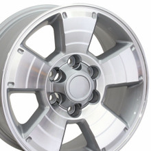 "17"" Fits Toyota - 4Runner Wheel - Silver Machined Face 17x7.5"