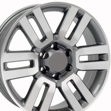 "20"" Fits Toyota - 4Runner Wheel - Gunmetal Machined Face 20x7"