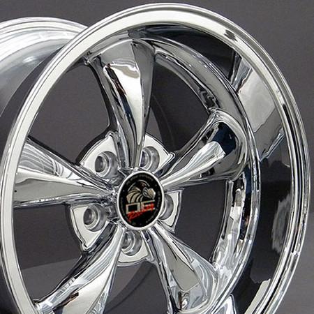 """17"""" Fits Ford - Mustang Bullitt Wheel - Chrome 17x10.5"""