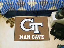 "Georgia Tech Man Cave Rug 19""x30"""